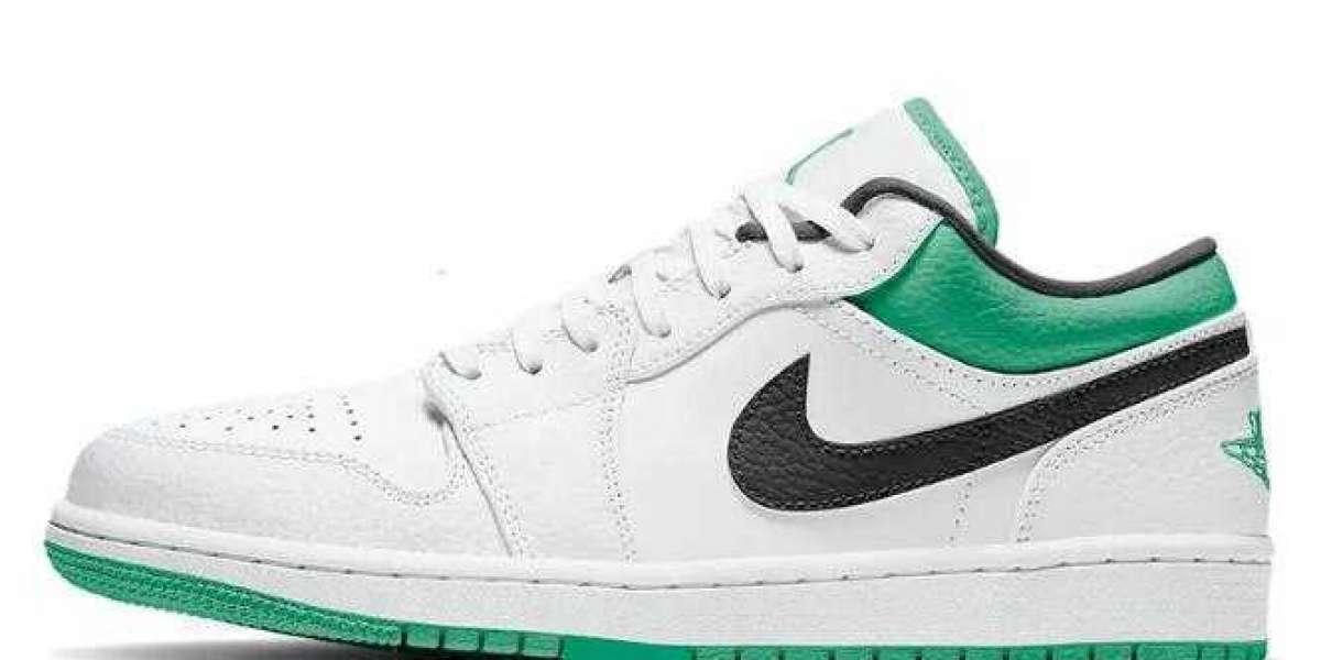 Best Morning Running Shoes is Air Jordan 1 Low Lucky Green White for Girls