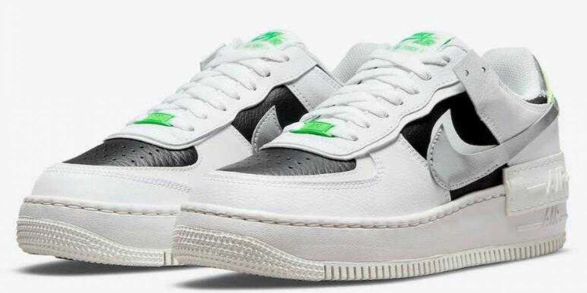 2021 New Air Force 1 Low Shadow Added Chrome Swooshes