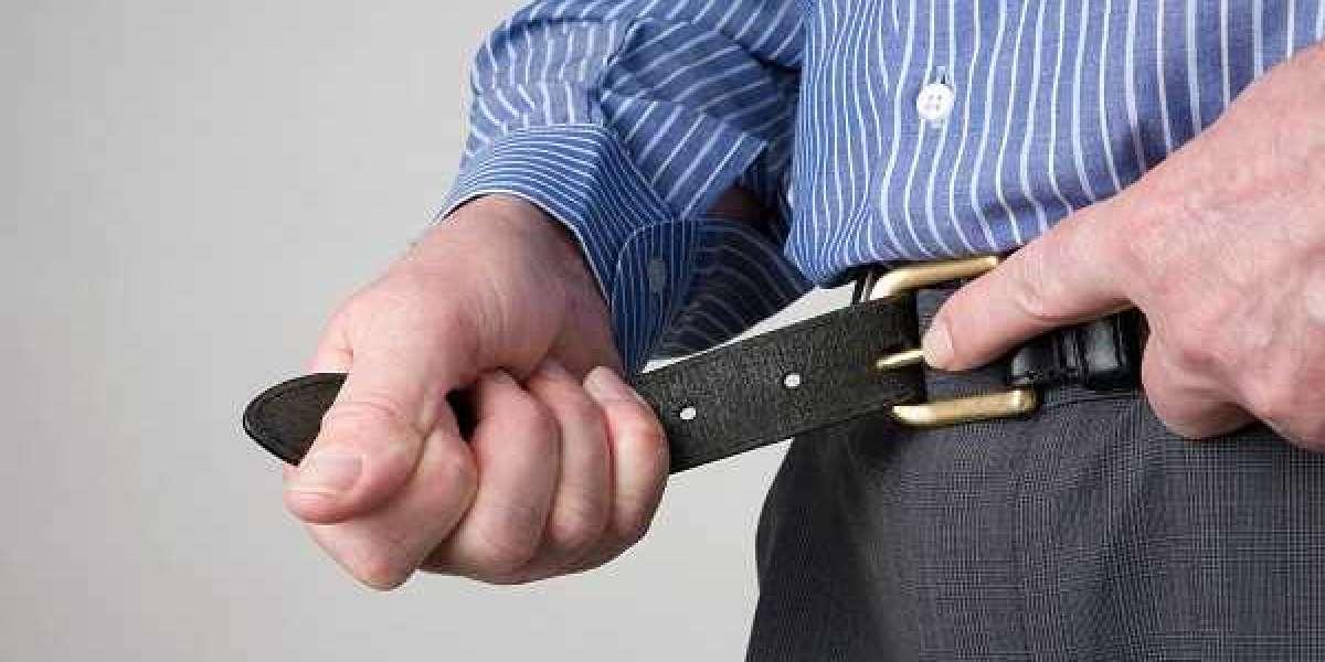 Manhood Bulge Through Employee