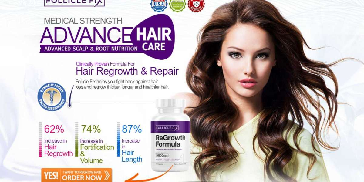 FollicleFix Hair Growth Formula - Reduce hair fall &Increase Hair Length!